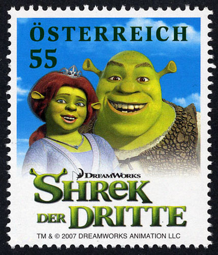 shrek stamp