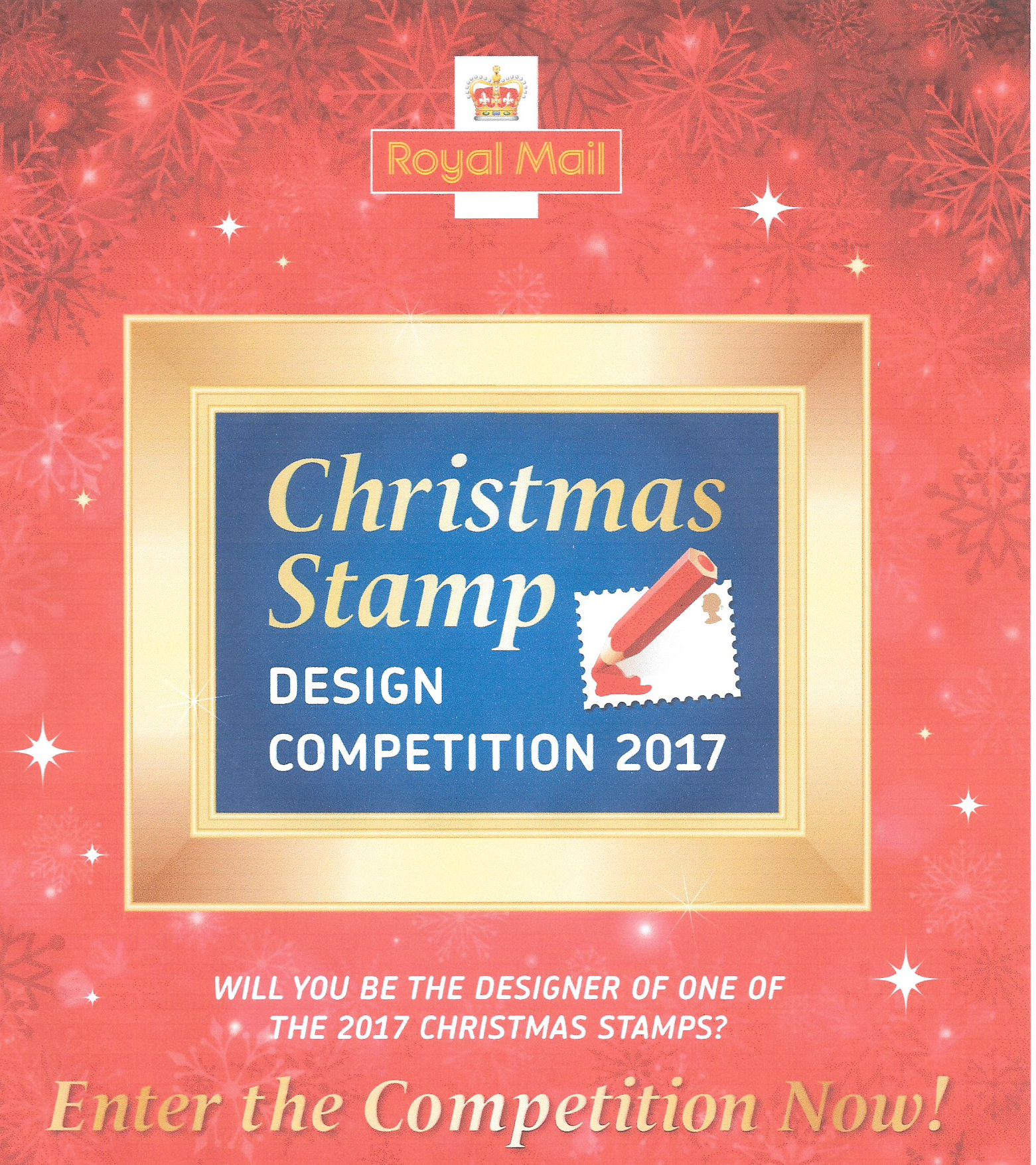 royal mails christmas stamp design competition 2017 poster image