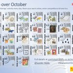 Stamp over October with StampIT